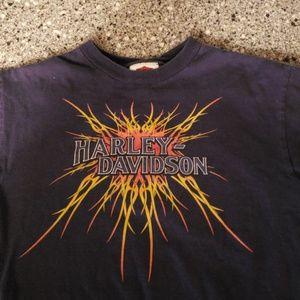 Navy Harley Davidson Youth medium tshirt